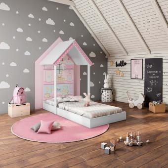 Mini Cama Montessoriana Casa de Boneca - Pura Magia