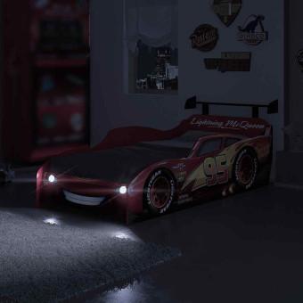 Cama Infantil Carros com Luz de Led e Aerofólio Disney Star - AB Móveis