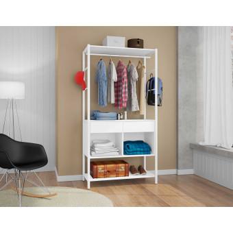 Guarda-Roupa Closet Solteiro Paris Branco - Artefamol