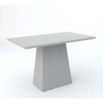 Mesa de Jantar Retangular 1,20x80 Jasmin com Vidro Off White - New Ceval