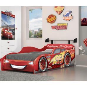 Cama Infantil Carros Disney Star Vermelho com Aerofólio Pura Magia - Licenciado pela Disney
