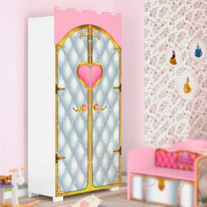 Guarda Roupa Infantil Castelo Premium com Pedras Decorativas Pura Magia