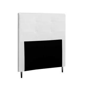 Cabeceira Para Cama de Solteiro 90cm Luna Corano Branco - Italian Flex